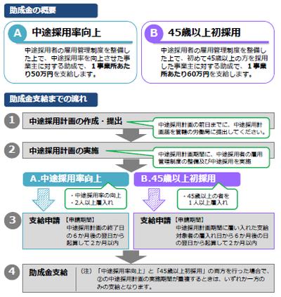 中途採用関連助成金「労働移動支援助成金(中途採用拡大コース ...